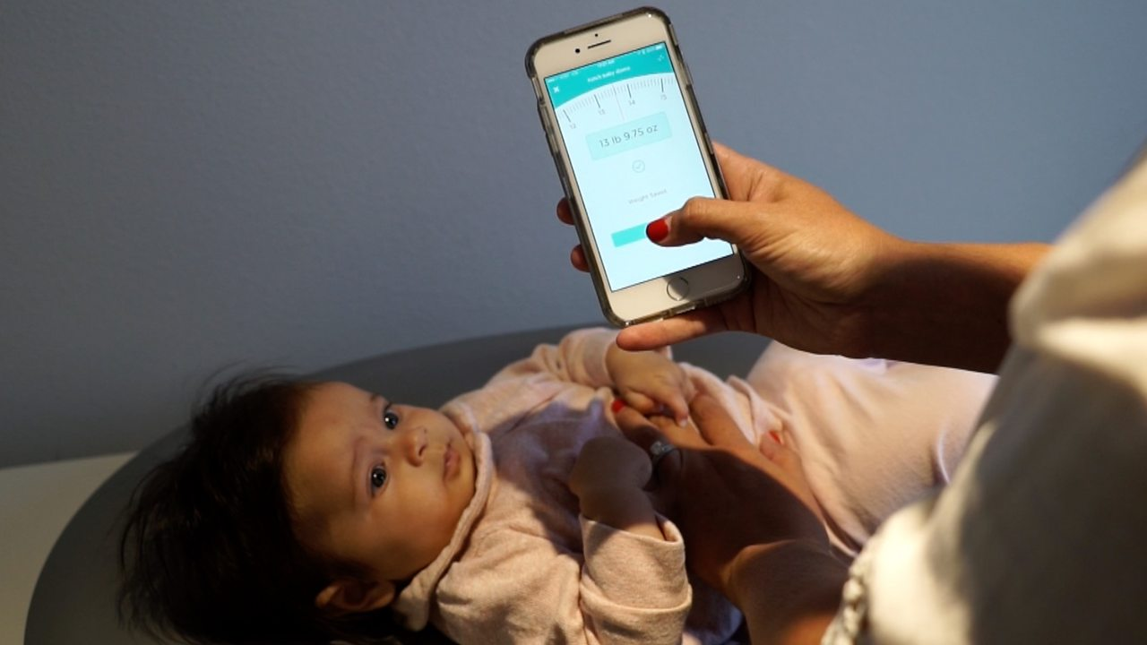 Smart nappy changing mat lets parents track baby's growth