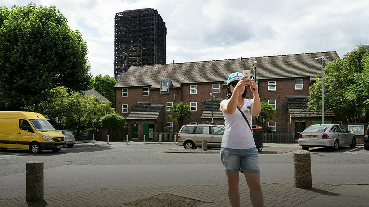 Anger over 'disaster tourism' at Grenfell Tower