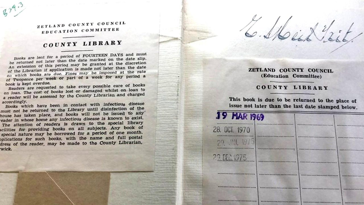 Shetland Library book returned after 43 years