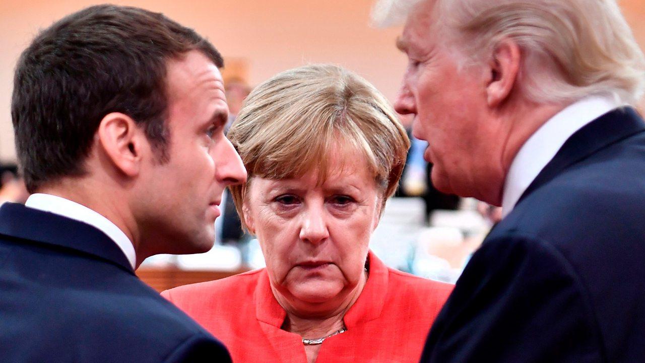 Body language expert: Macron and Trump vs Merkel and Trump