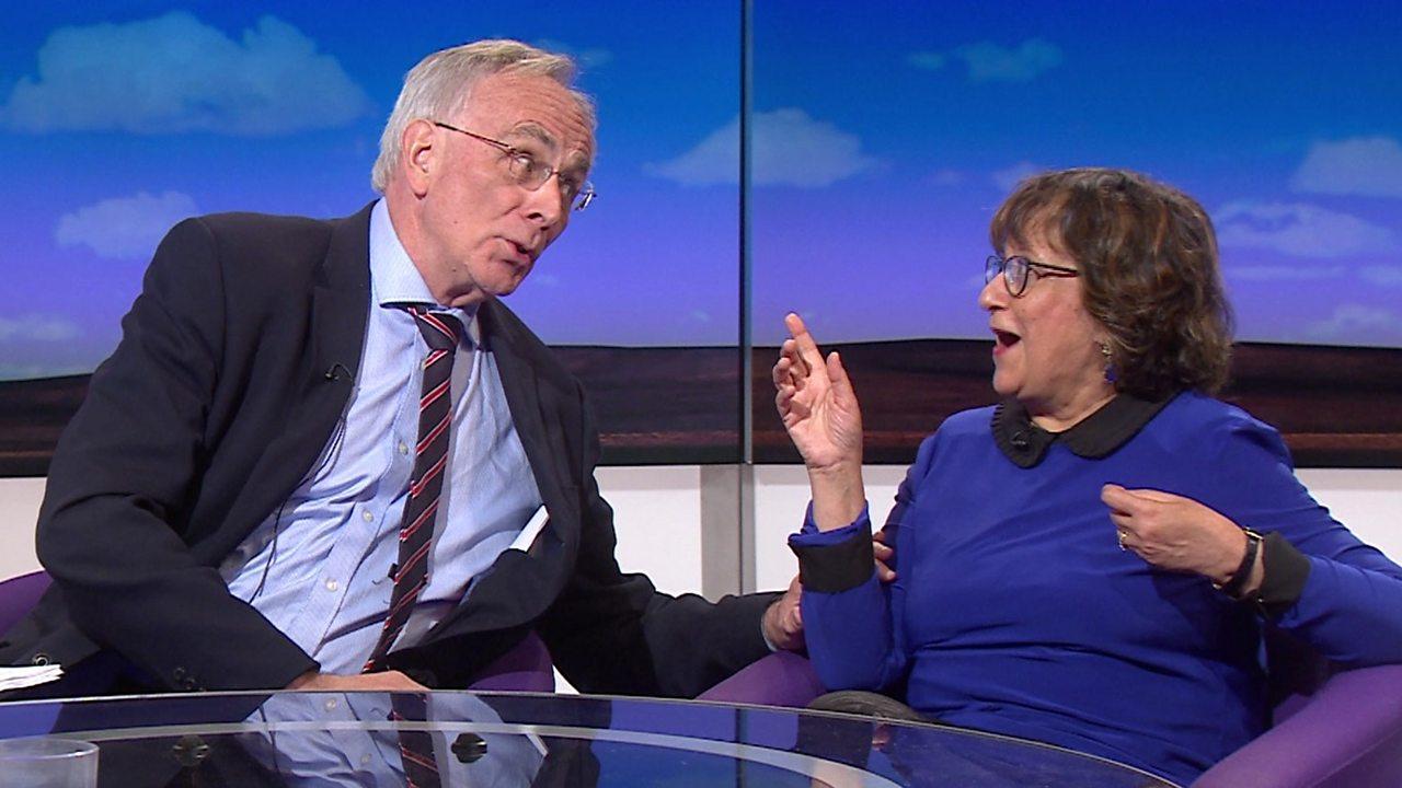 Brexit debate: Peter Bone and Yasmin Alibhai-Brown.