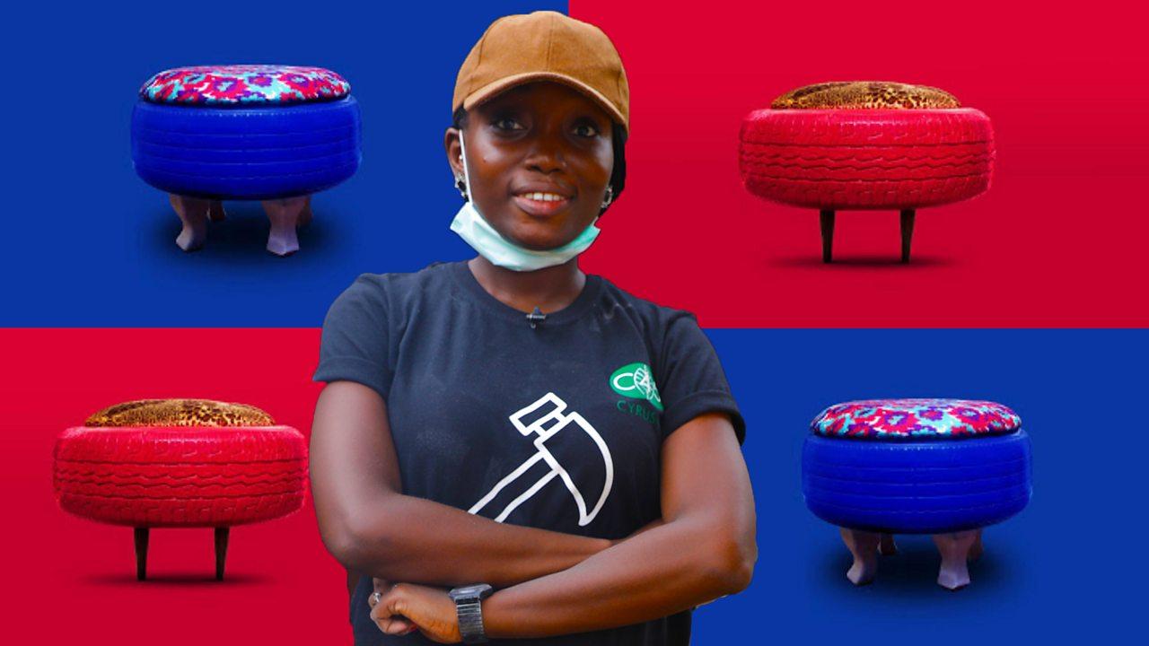 Nigerian entrepreneur turning old tyres into furniture