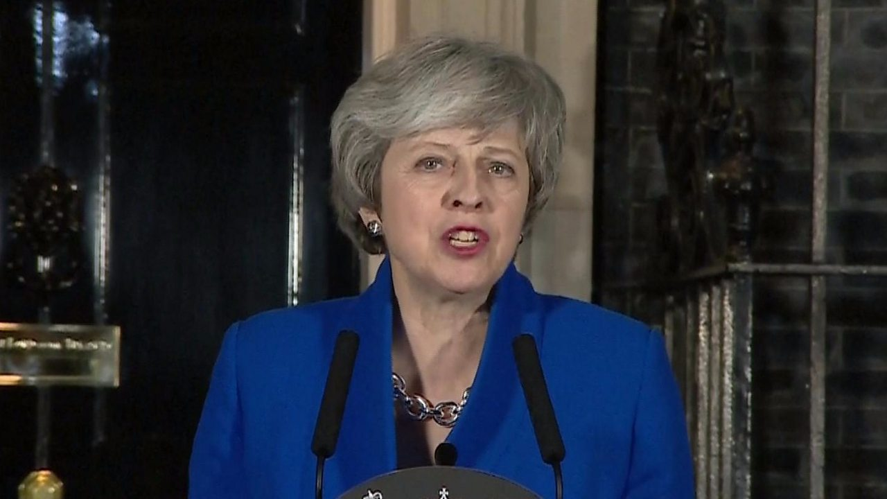 Brexit: Theresa May gives Downing Street statement