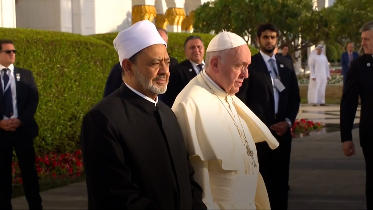 Pope Francis visits the Sheikh Zayed Grand Mosque