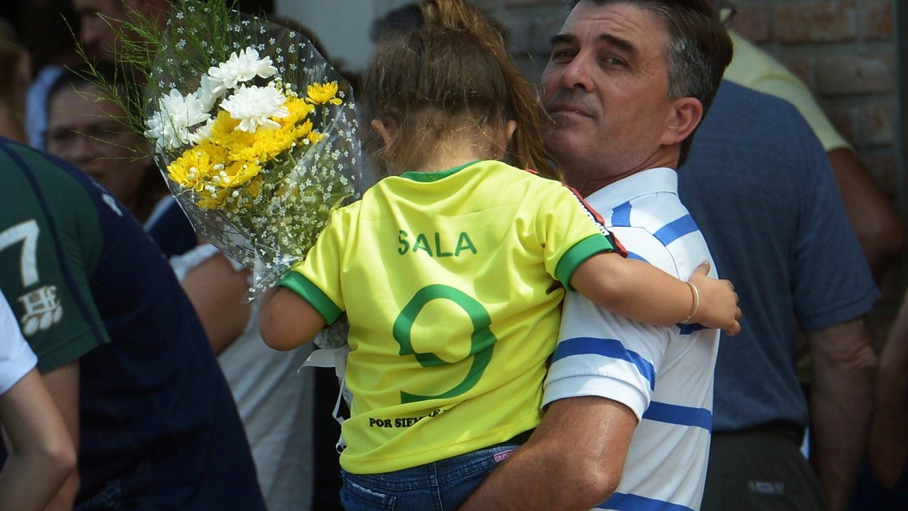 Emiliano Sala: Former coach's tribute as funeral takes place