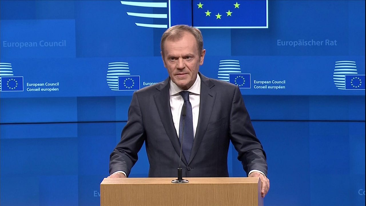 Donald Tusk: Extension possible but conditional on positive Brexit deal vote
