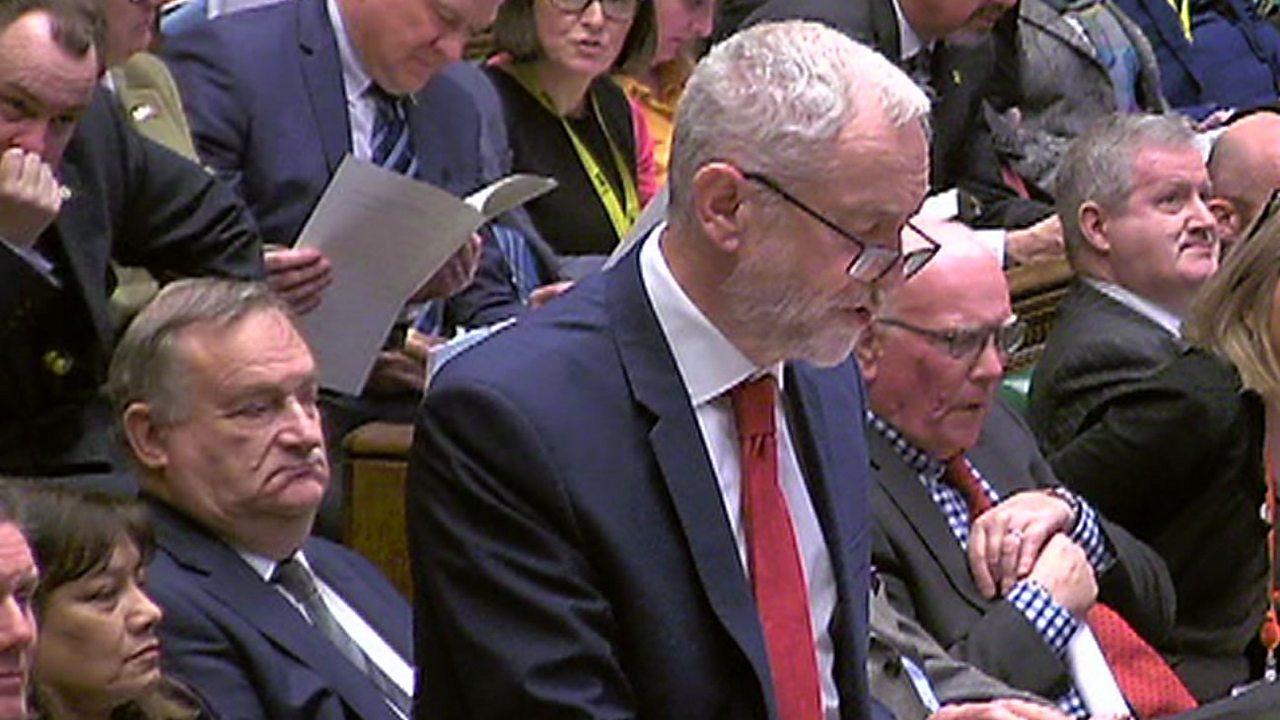 Brexit: Corbyn criticises government handling of EU talks