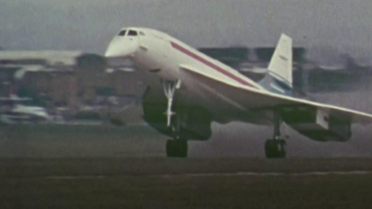 Concorde's first British flight from Filton
