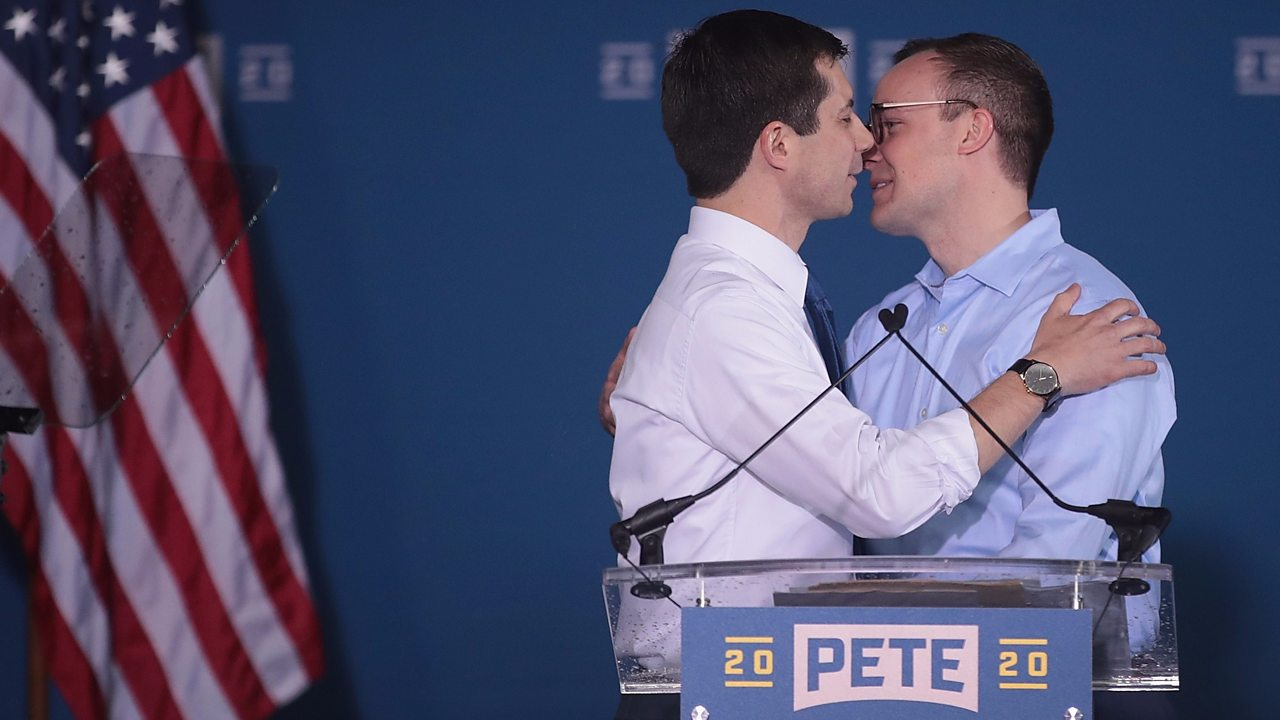 """Pete Buttigieg These Pete Buttigieg Quotes About Mike Pence Bring Up This Big Question Harris surges to third place in national poll after debate No, African American Voters Won't Keep Silent To Defeat Trump The Democrats agree with Trump in a surprising way Elizabeth Warren and Kamala Harris stole the show at the debates — so why can't we have two women on the ticket? Kamala Harris sees 6-point polling bump after taking on Joe Biden in debate Jesse Jackson opens up on 2020 and the changing Democratic Party Data shows Twitter primary differs from the 'real world' IN Focus: Analyzing the Democratic debatesKamala Harris, Joe Biden, Bernie Sanders y Pete Buttigieg, los más destacados en segundo debate demócrata by CNN en Español IN Focus: Braun, Banks on 2020 candidates, border controversy Morning Consult Poll: Kamala Harris Now Third After Debates A busy Iowa week for 2020 hopefuls America's first-elected drag queen politician is running for Congress 2020 Sunday Trail Markers: What to know about this week's big FEC filings 2020 Democrats defend Kamala Harris as false claims on her race resurface Pete Buttigieg: """"Mr. President, children are suffering here because of you."""" Why The Only Frontrunner With Student Debt Doesn't Want Free College For All'Faith calls us to repay hurt with love': Mayor Pete Buttigieg addresses peace walk in South Bend after facing furious criticism Kamala Harris emerges from debate as Twitter victor Democratic candidates continue to create momentum after first round of debates Pete Buttigieg just got a presidential endorsement from a major LGBTQ org Unhappy With Their 2016 Coronation, the Democrats Start a 2020 Circus Eric Swalwell Doubles Down on Attacking Mayor Pete for Police Shooting Response: 'Where Does the Buck Stop?' Pete Buttigieg returns to South Bend amid tension over police shooting Biden, Buttigieg and other candidates need to come clean about their views on race Gay mayor Pete Buttigieg receives big LGBT+ endorsement 5. Theranos f"""