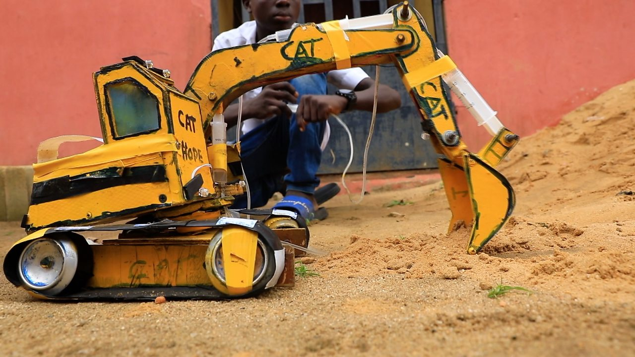 Fifteen-year-old Nigerian builds small scale construction machines