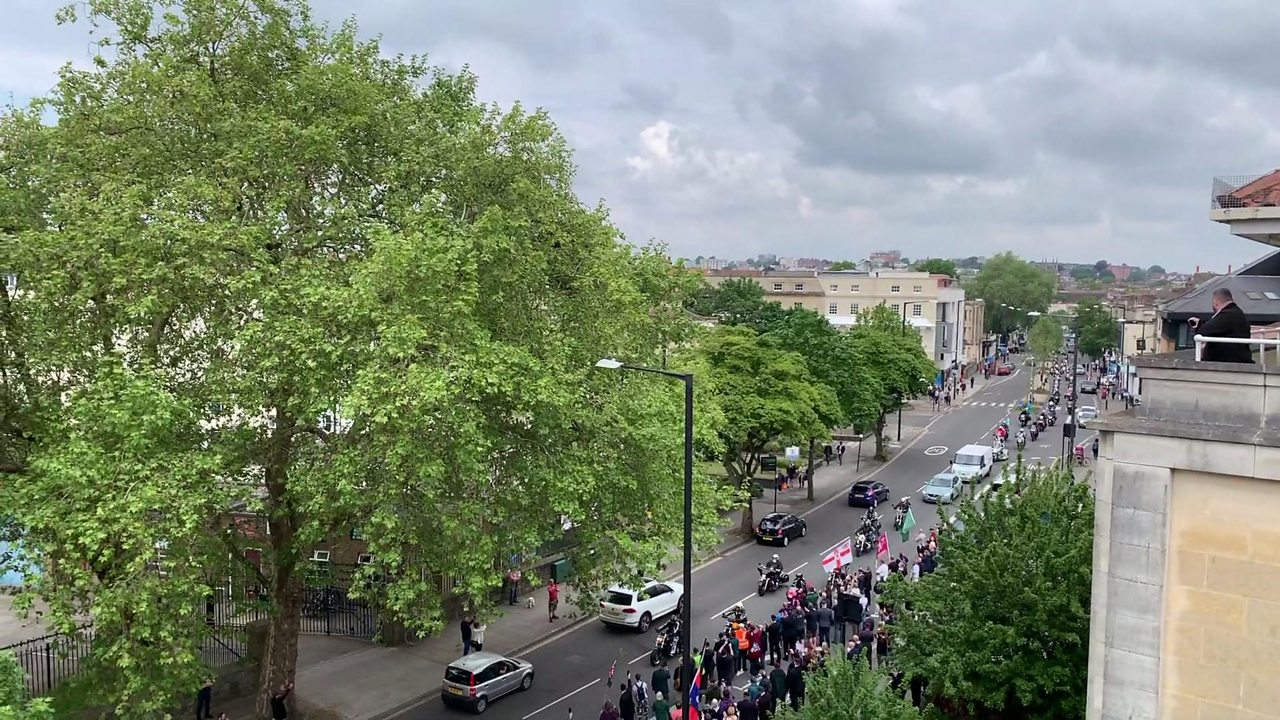 Hundreds of bikers in Bloody Sunday demo in Bristol