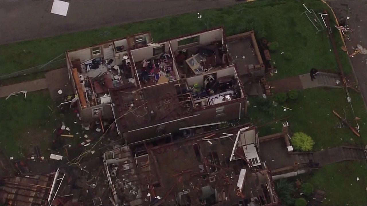 US tornadoes: Aerial shots show Missouri destruction