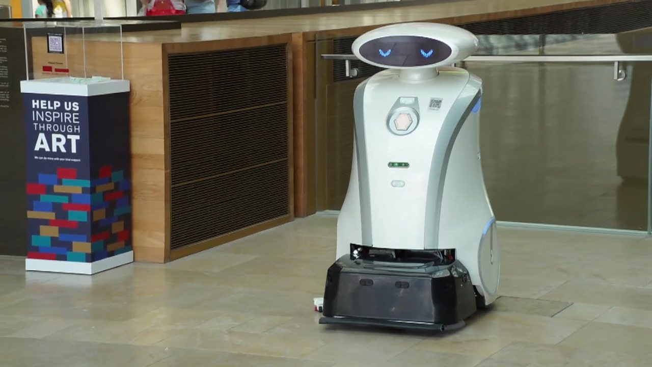 The robot that cleans floors and tells jokes