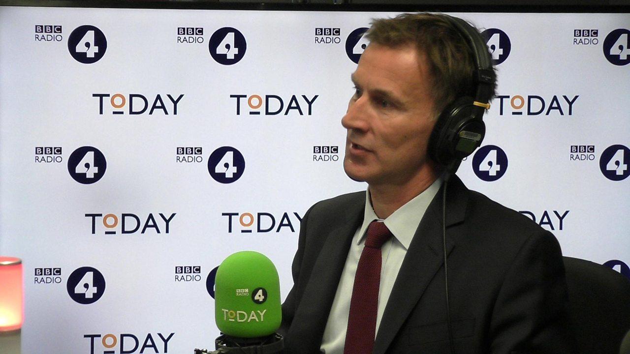 Jeremy Hunt: Brexit talks 'encouraging'