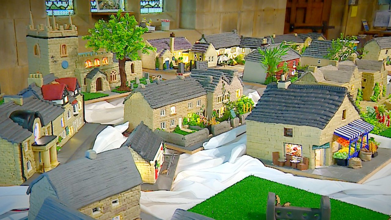 The Derbyshire village recreated out of fruit cake