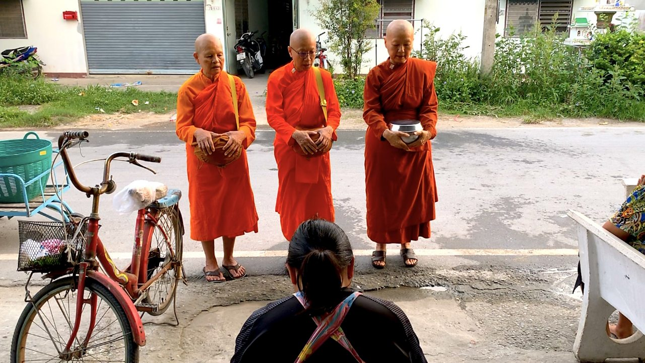 Women aren't allowed to be ordained as monks in Thailand