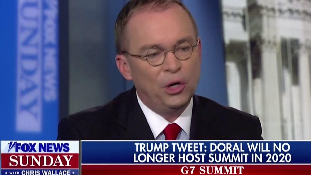 Trump 'considers himself in the hospitality business' - Mick Mulvaney