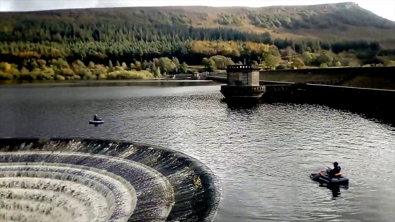 Peak District anglers dangerously close to huge plug hole