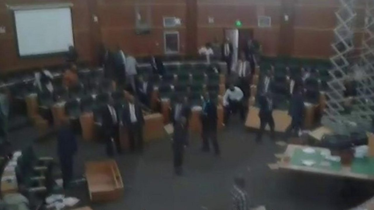 Lesotho MPs brawl in parliament