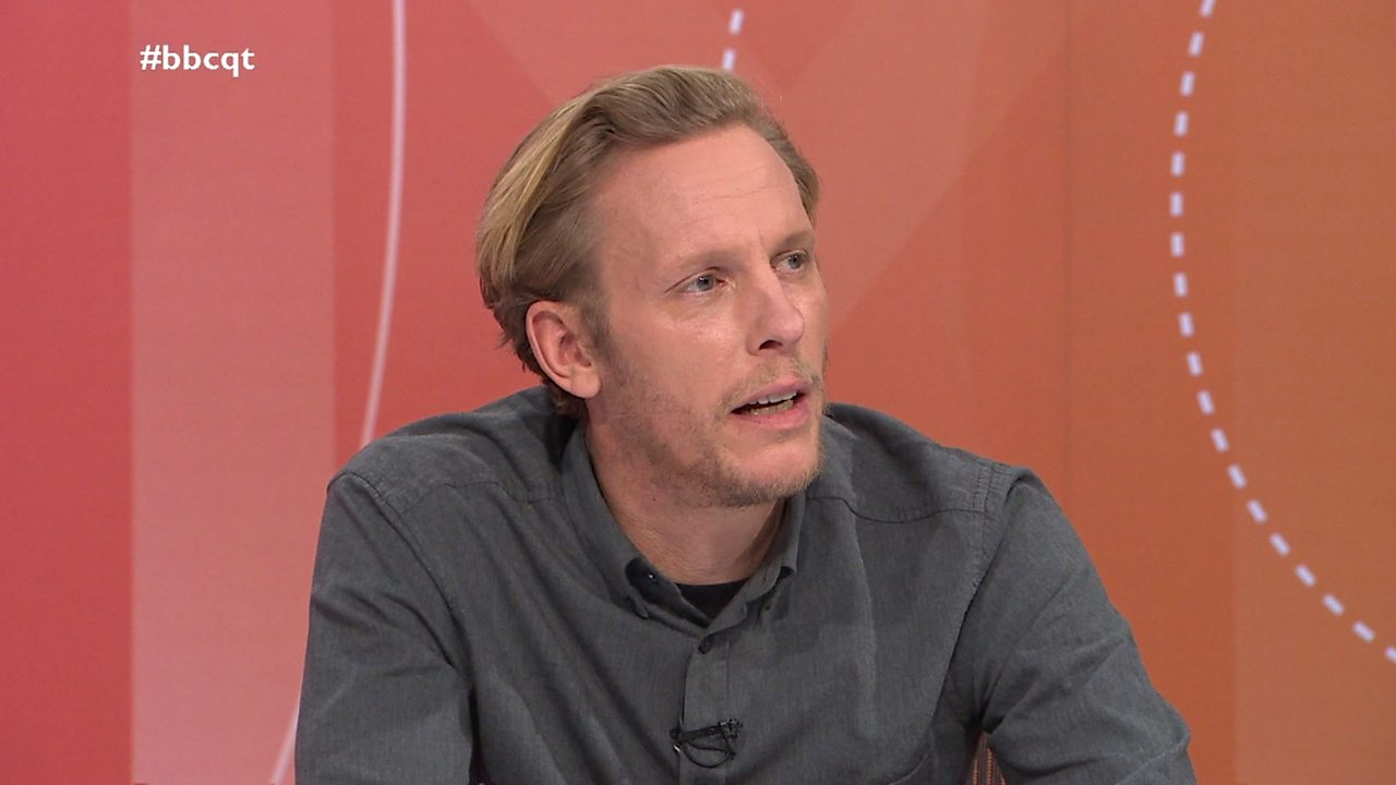 Actor Laurence Fox's Question Time clash over Meghan