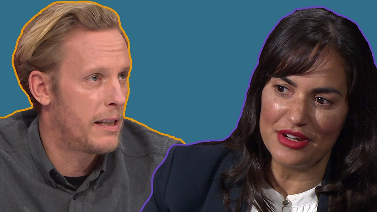 Actor Laurence Fox's Question Time clash over Meghan Markle