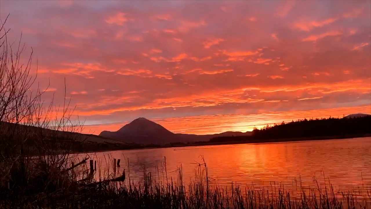 Your pictures: Spectacular red sky