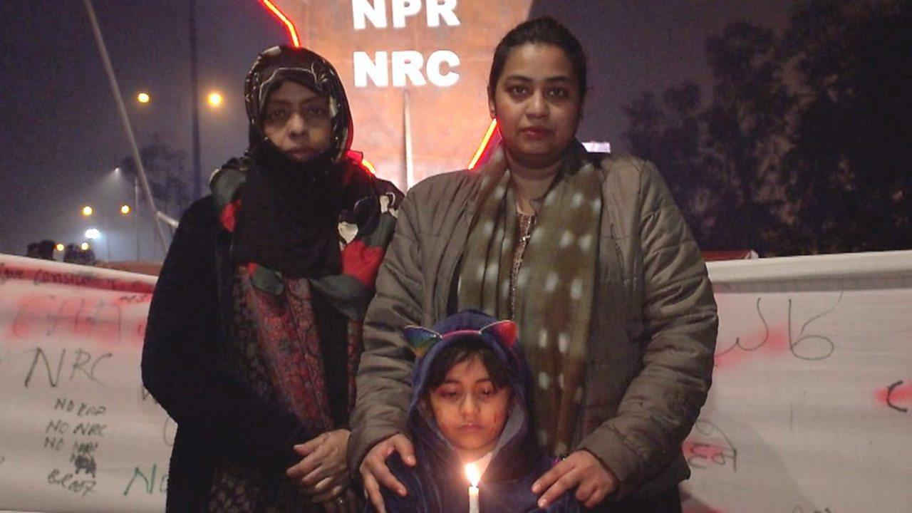 Three generations join Delhi women's citizenship sit-in