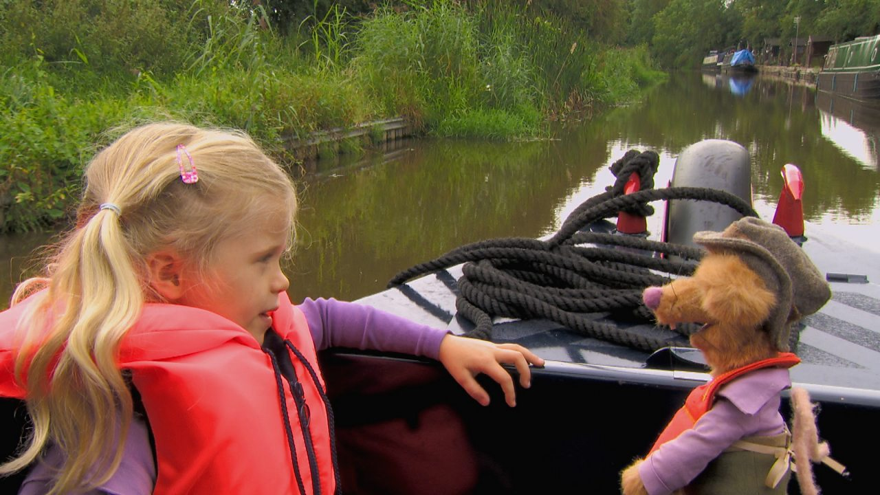 Travelling on a canal boat