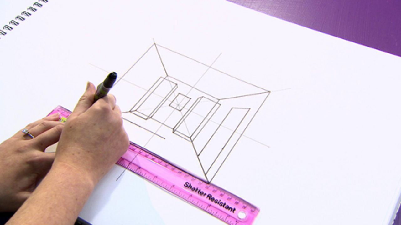 Drawing a 3D room plan and a floor plan from above