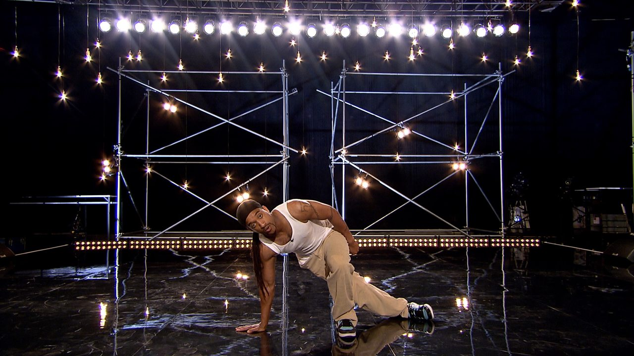 The 'floor slide to resurrection' moves used in house dance