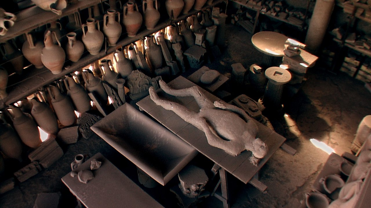 How were the casts of the victims of Pompeii made?
