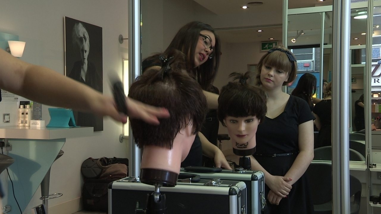 Apprentice hairdresser for a day
