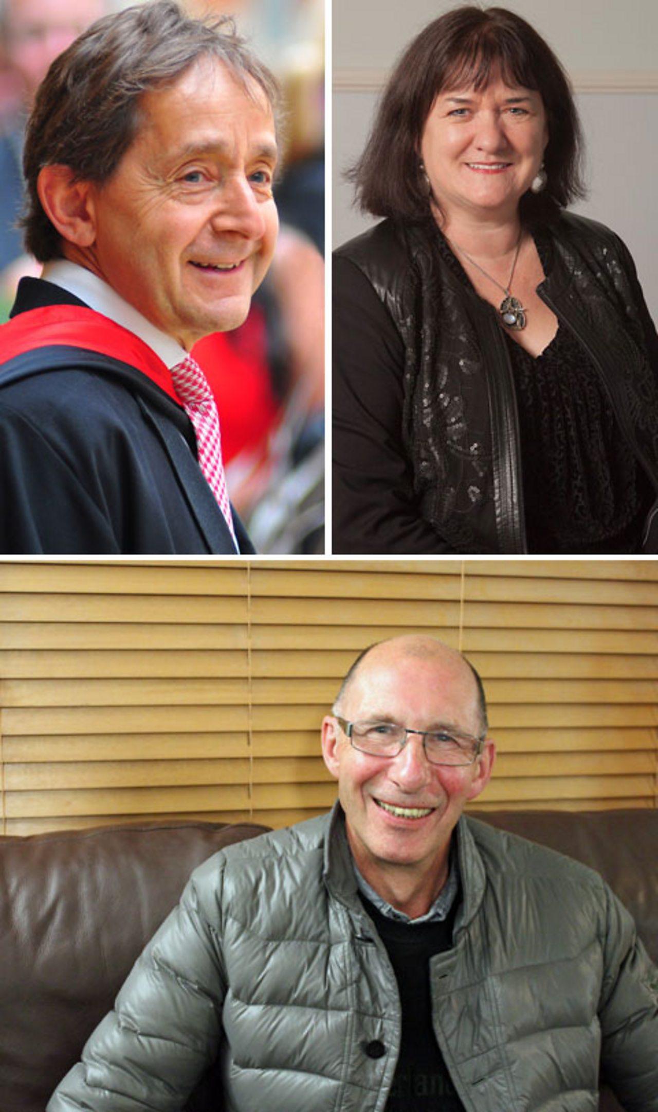 Top left: Dr Anthony Seldon. Top right:J enny Edwards CBE. Bottom: Paul Wride