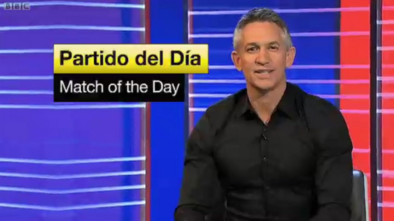 Gary Lineker - Match of the Day in Spanish