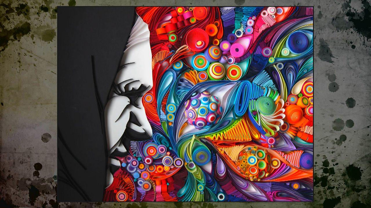 Paper quilling artist Yulia Brodskaya