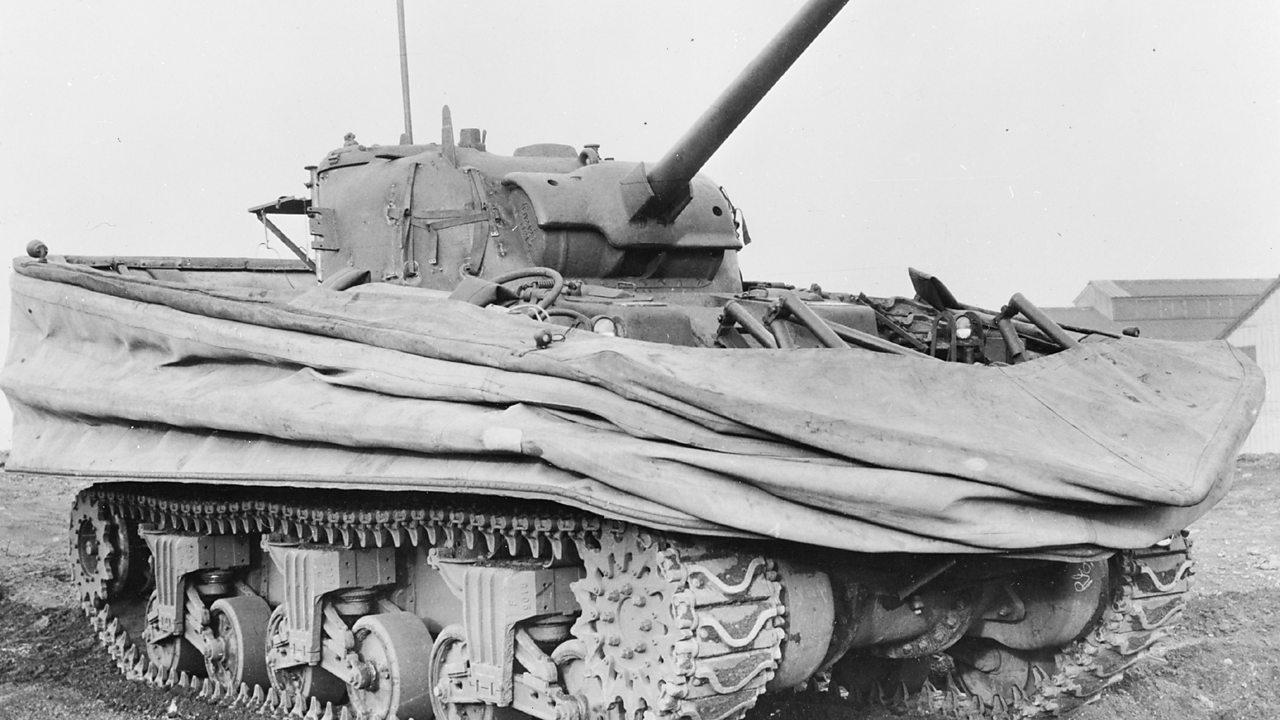 Photograph of a sherman tank