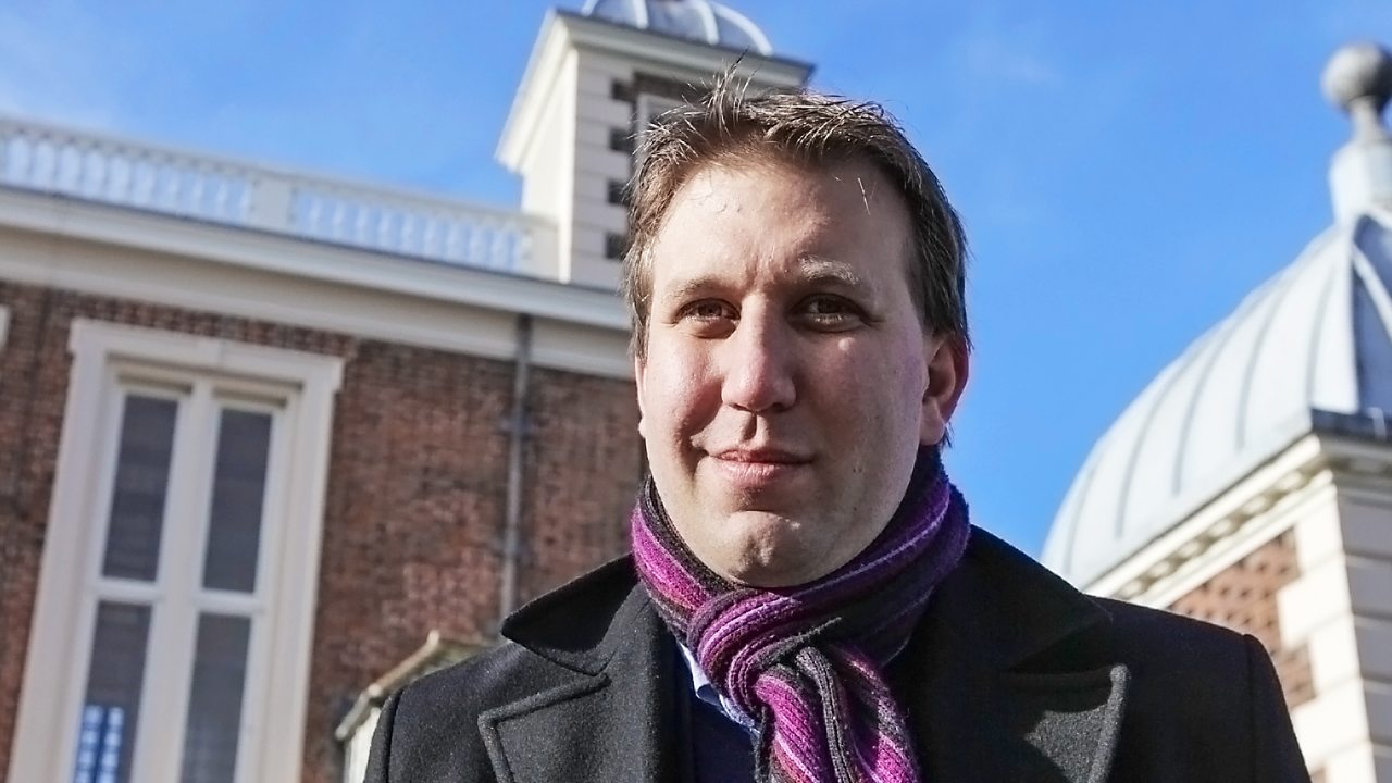 Chris Lintott, astronomer and broadcaster.