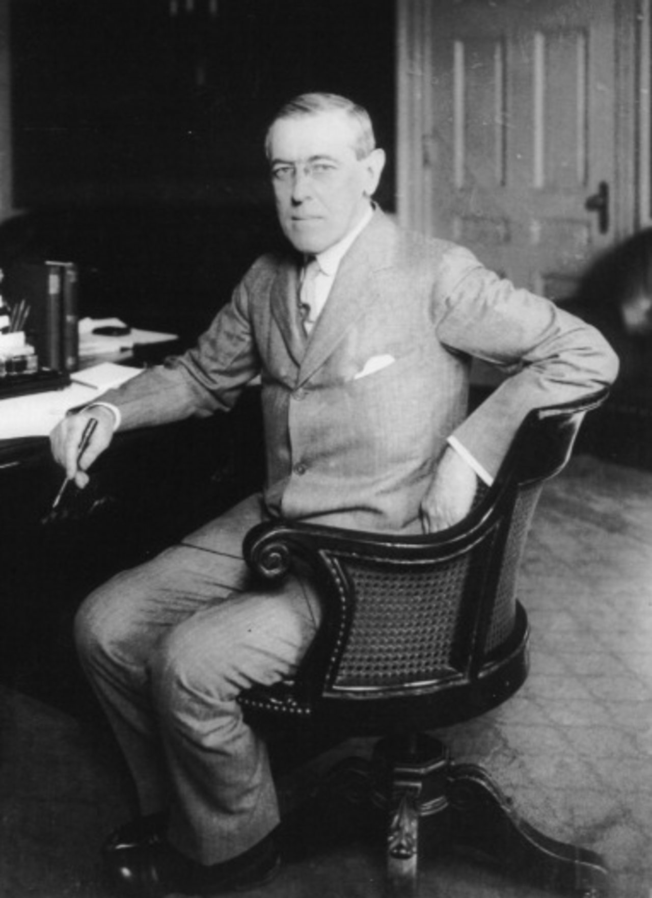 Photograph of US President Woodrow Wilson