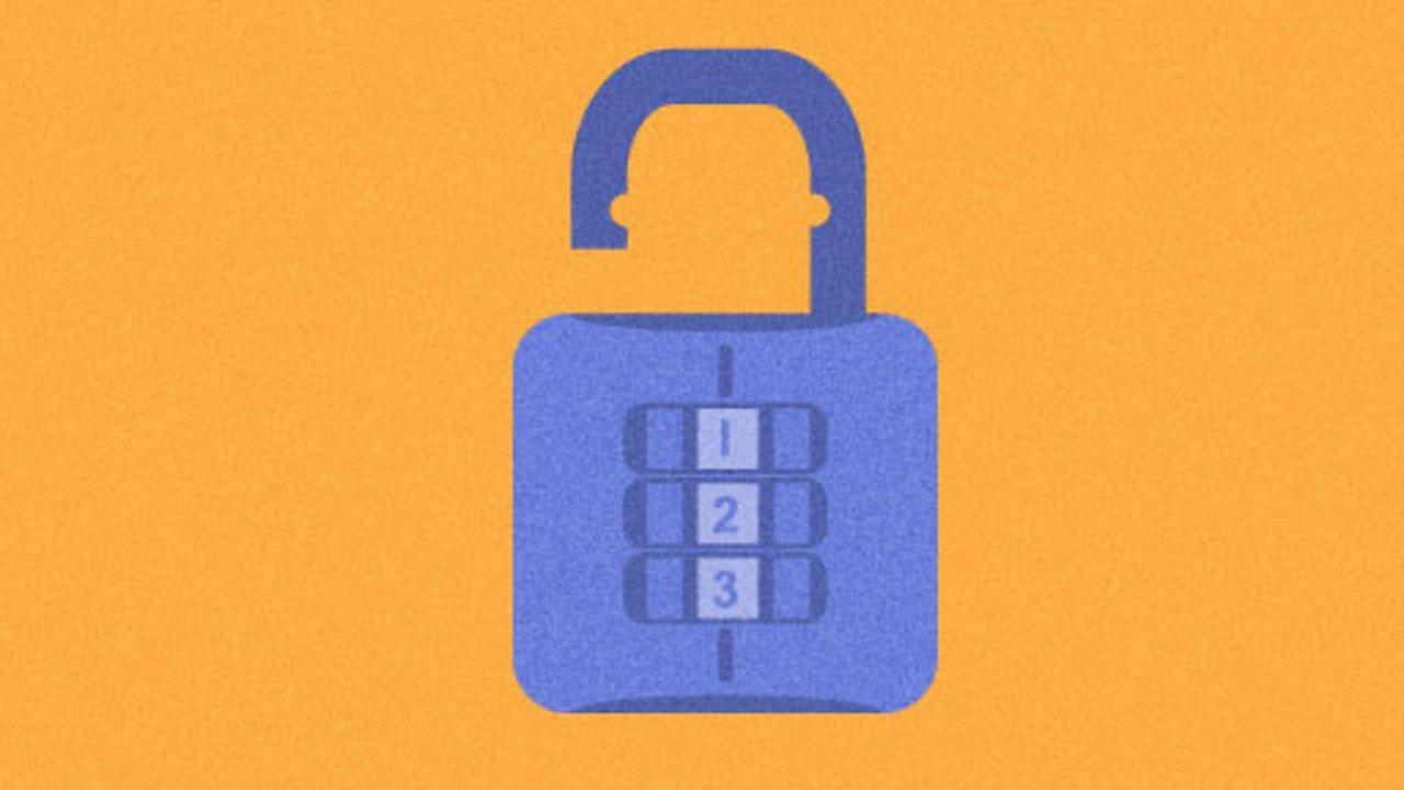 Illustration of a padlock for KS1 computing