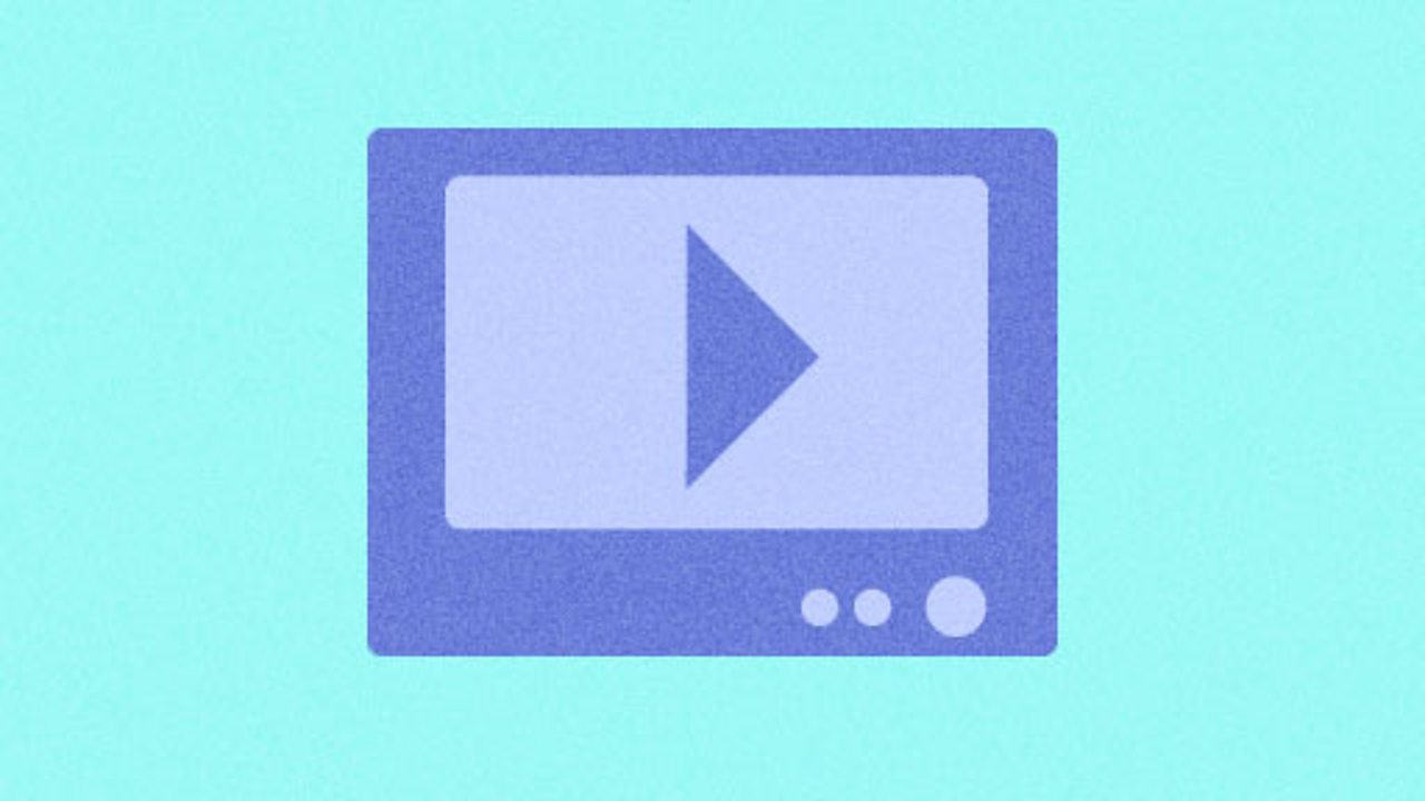 Illustration of a video player icon for KS1 computing