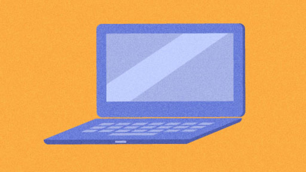 Illustration of a laptop for KS1 computing