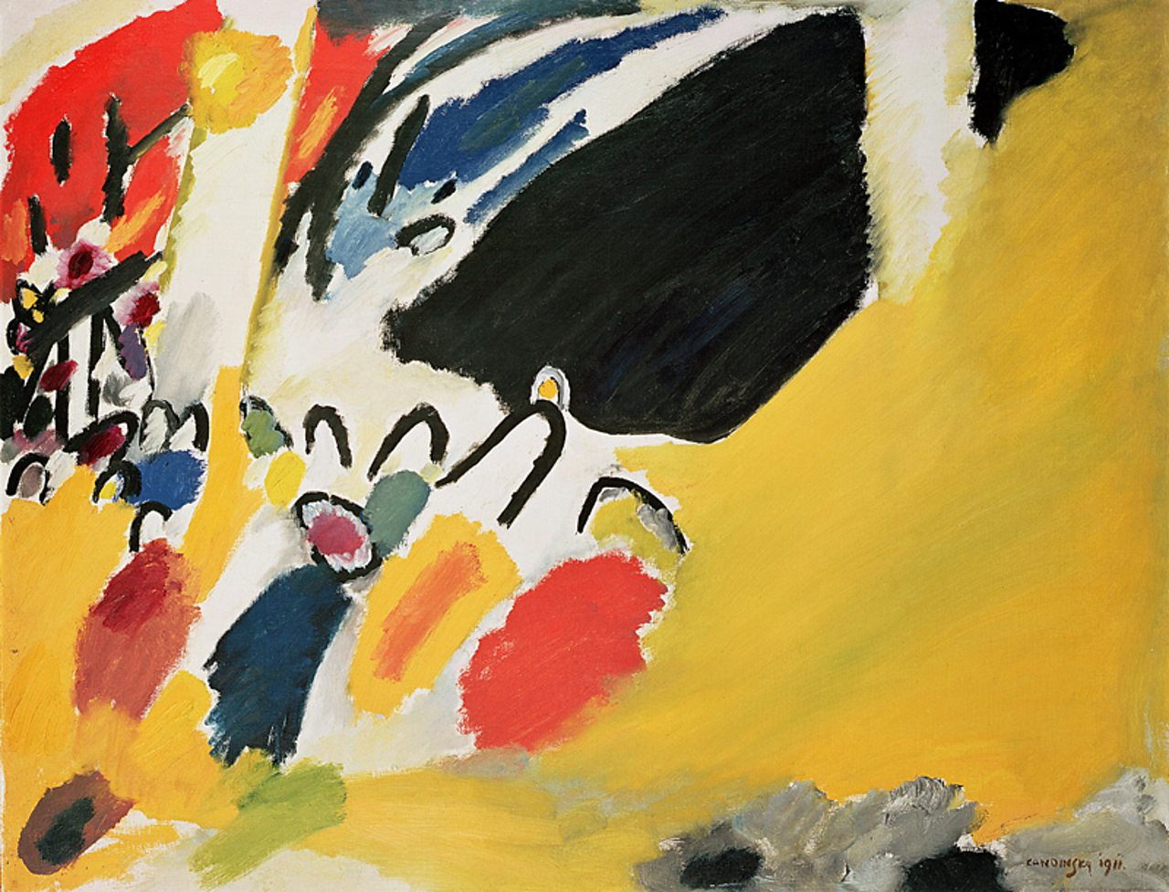 Impression no. 3 (Concert) 1911 by Wassily Kandinsky, a colourful abstract painting.