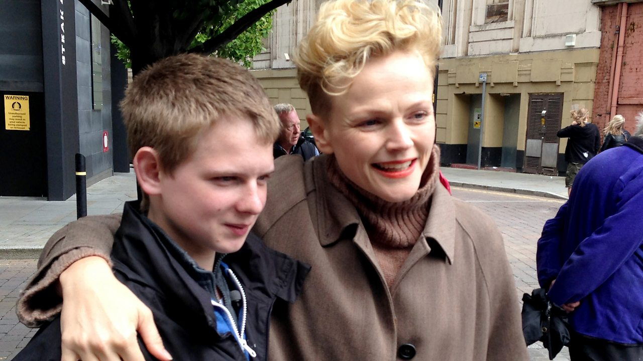 Mathew and Maxine Peake at the commemoration of the 2014 anniversary of the Peterloo Massacre.