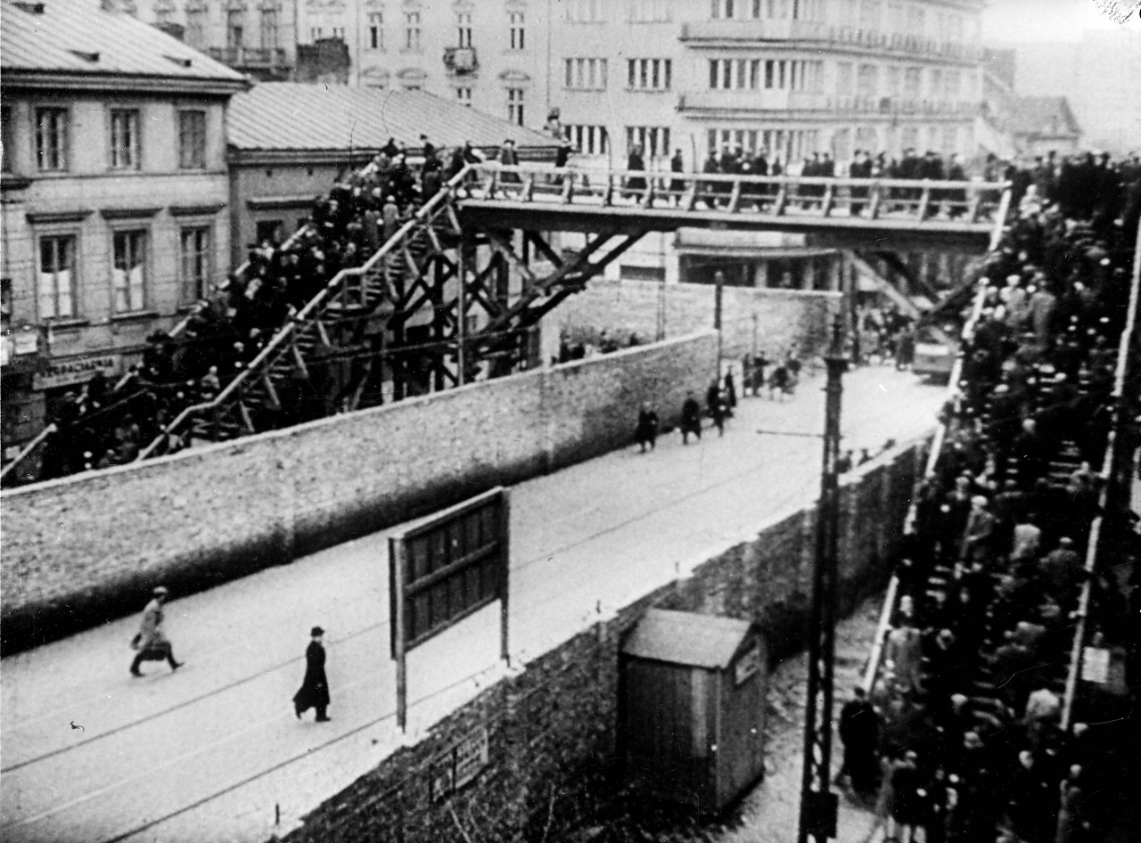 The Warsaw Ghetto in 1941.