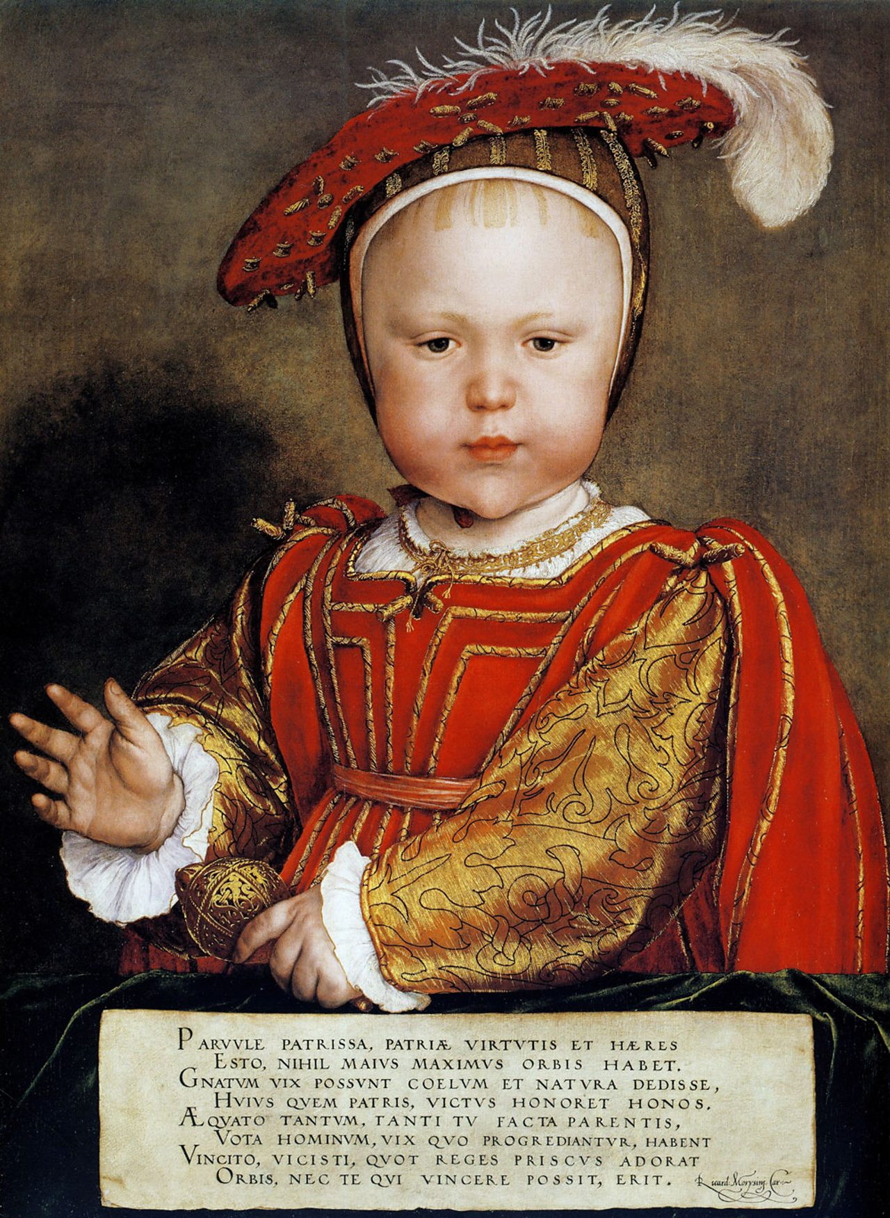 Henry's third wife Jane Seymour gave birth to his only son, Edward. (Hans Holbein, around 1538)