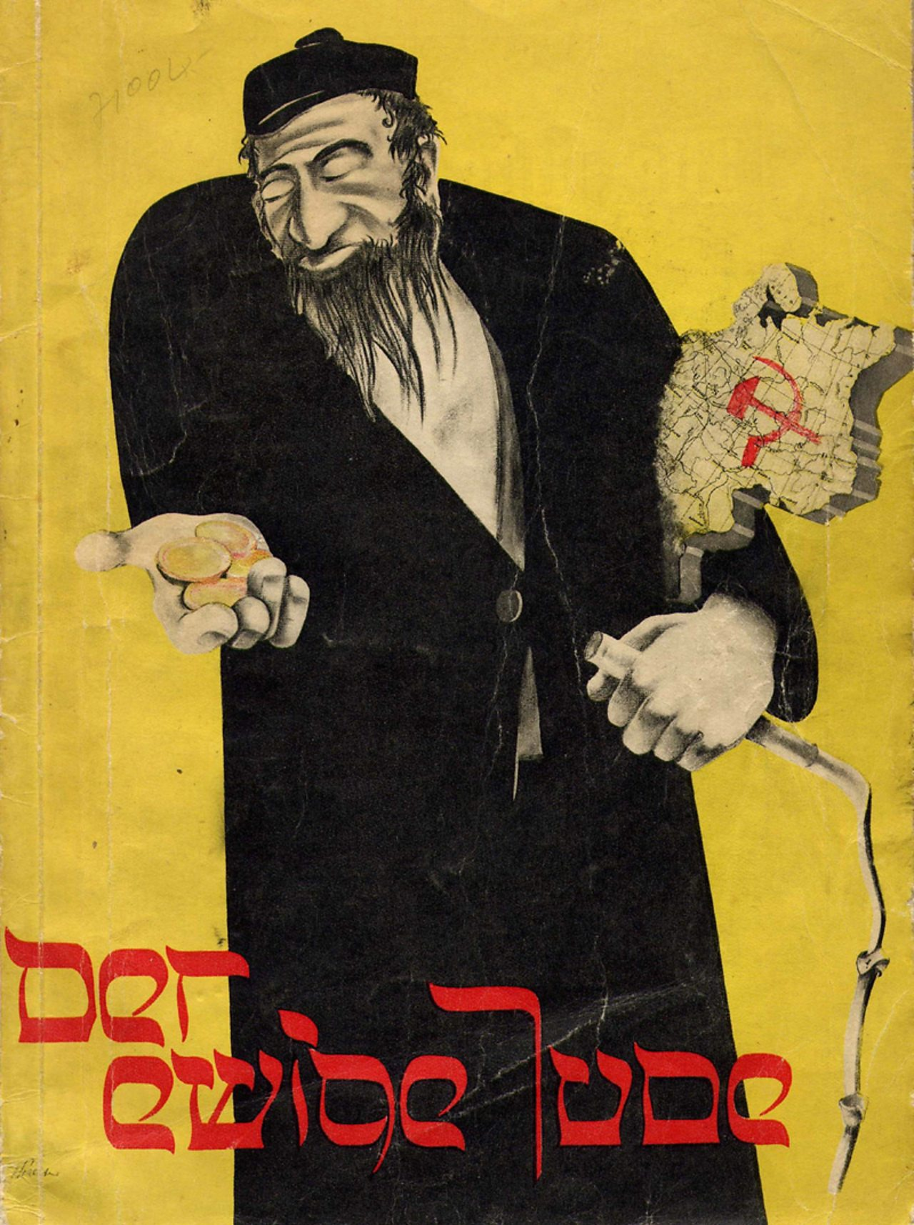 A poster advertising the 1937 exhibition 'The Eternal Jew': a landmark in anti-Semitic propaganda, which opened in Munich and toured Germany.