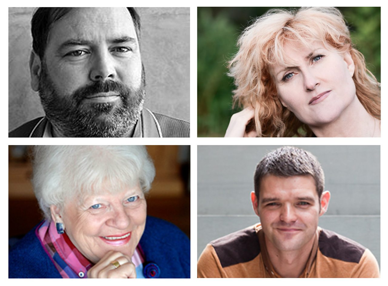 (Clockwise from top left) Gerard Carruthers - Francis Hutcheson Professor of Literature at the University of Glasgow, Eddi Reader - Singer and Songwriter, William Letford - Roofer/Poet and Ruth Wishart - Journalist.