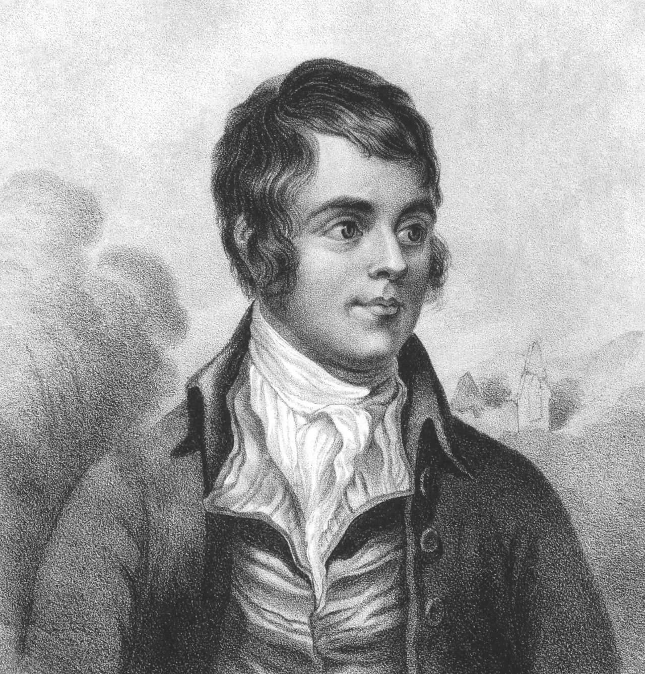 A 19th Century engraving of Robert Burns.