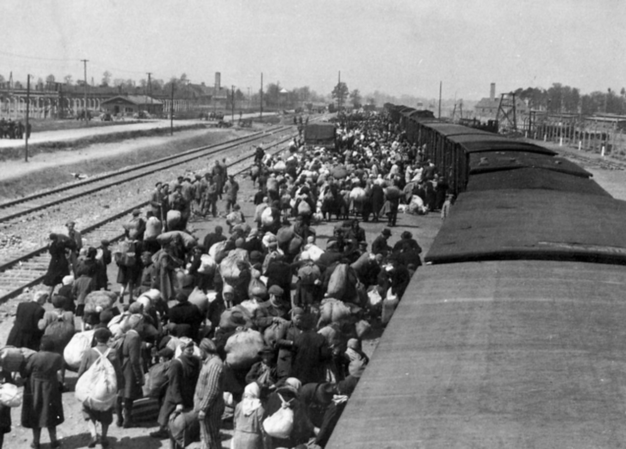Jews being transported by train to extermination camps.