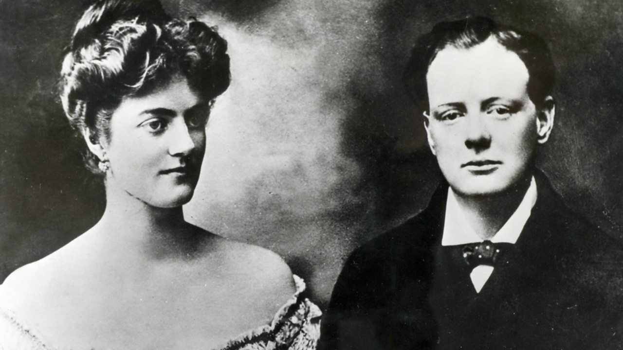 Winston Churchill pictured with fiancee Clementine a week before their wedding.